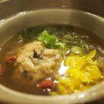 鶏つくねの薬膳スープ 〜 日本酒と和の薬膳ソラマメ食堂 & <ruby>十<rt>じゅうじ</rt></ruby>旭日(島根)