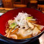 沢煮わんたんスープ 〜 日本酒とお食事 はちどり & <ruby>遊穂<rt>ゆうほ</rt></ruby>(石川)