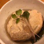 淡路島名産の鯛と穴子と灰わかめの巾着、炊いたん 〜 <ruby>群醸日和<rt>ぐんじょうびより</rt></ruby> & 都美人(兵庫)